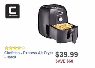 Best Buy Weekly Ad: Chefman - Express Air Fryer - Black for $39.99