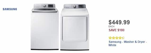 Best Buy Weekly Ad: Samsung - 4.5 Cu. Ft. 9-Cycle Top-Loading Washer - White for $449.99