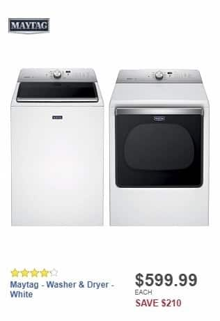 Best Buy Weekly Ad: Maytag - 5.3 Cu. Ft. 11-Cycle Top-Loading Washer - White for $599.99