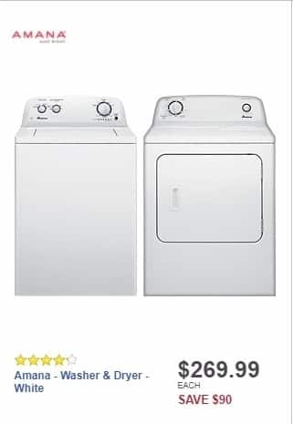 Best Buy Weekly Ad: Amana - 3.5 Cu. Ft. 8-Cycle Top-Loading Washer - White for $269.99