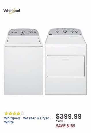 Best Buy Weekly Ad: Whirlpool - Cabrio 4.3 Cu. Ft. 12-Cycle High-Efficiency Top-Loading Washer - White for $399.99