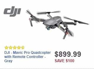 Best Buy Weekly Ad: DJI - Mavic Pro Quadcopter with Remote Controller - Gray for $899.99