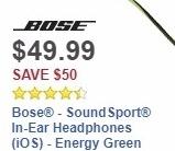 Best Buy Weekly Ad: Bose® - SoundSport® In-Ear Headphones (iOS) - Energy Green for $49.99