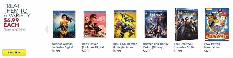 Best Buy Weekly Ad: Wonder Woman [Includes Digital Copy] [Blu-ray/DVD] [2017] for $6.99