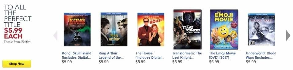 Best Buy Weekly Ad: Transformers: The Last Knight [DVD] [2017] for $5.99