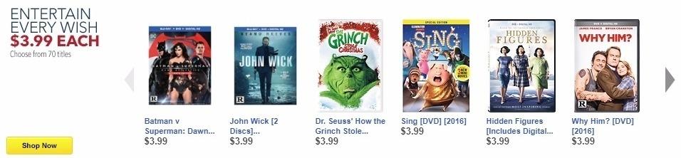 Best Buy Weekly Ad: John Wick [2 Discs] [Blu-ray/DVD] [2014] for $3.99