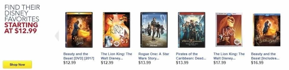 Best Buy Weekly Ad: The Lion King: The Walt Disney Signature Collection [Include Digital Copy] [Blu-ray/DVD] [2017] [1994] for $17.99