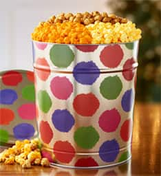 ThePopCornFactory - 6 1/2 Gallon Holiday Dots Popcorn Tin - $29.99 + Free Shipping