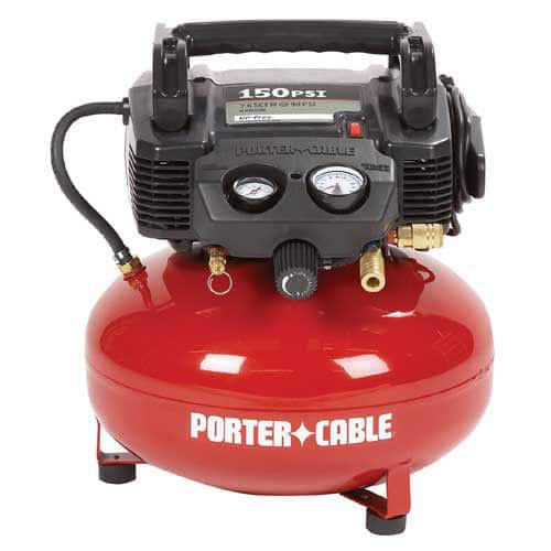 Porter-Cable 0.8 HP 6 Gallon Oil-Free Pancake Air Compressor C2002 Reconditioned - $59.99