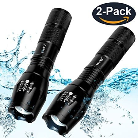 2-Pack Wsky LED Tactical Flashlight S1800 Powerful Waterproof Flashlight - $9.91