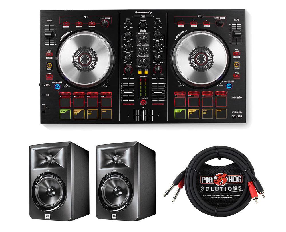 Pioneer DDJ-SB2 2-Channel DJ Controller +2x LSR305 Monitor Speaker +Dual Cable - $349.99