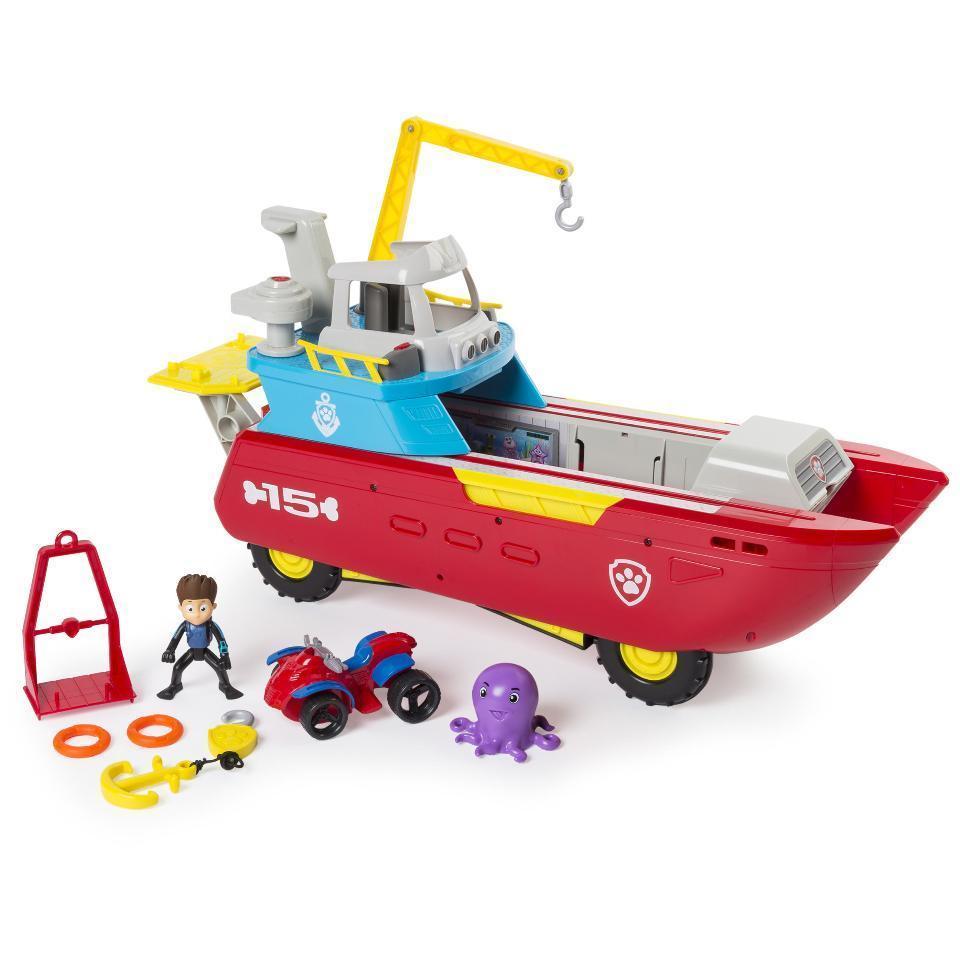 Disney Pixar Cars 3 Service Station - $40.6, FurReal Roarin' Ivory The Playful Tiger Pet - $111.14, Paw Patrol Sea Patroller Rescue Vehicle $36.16