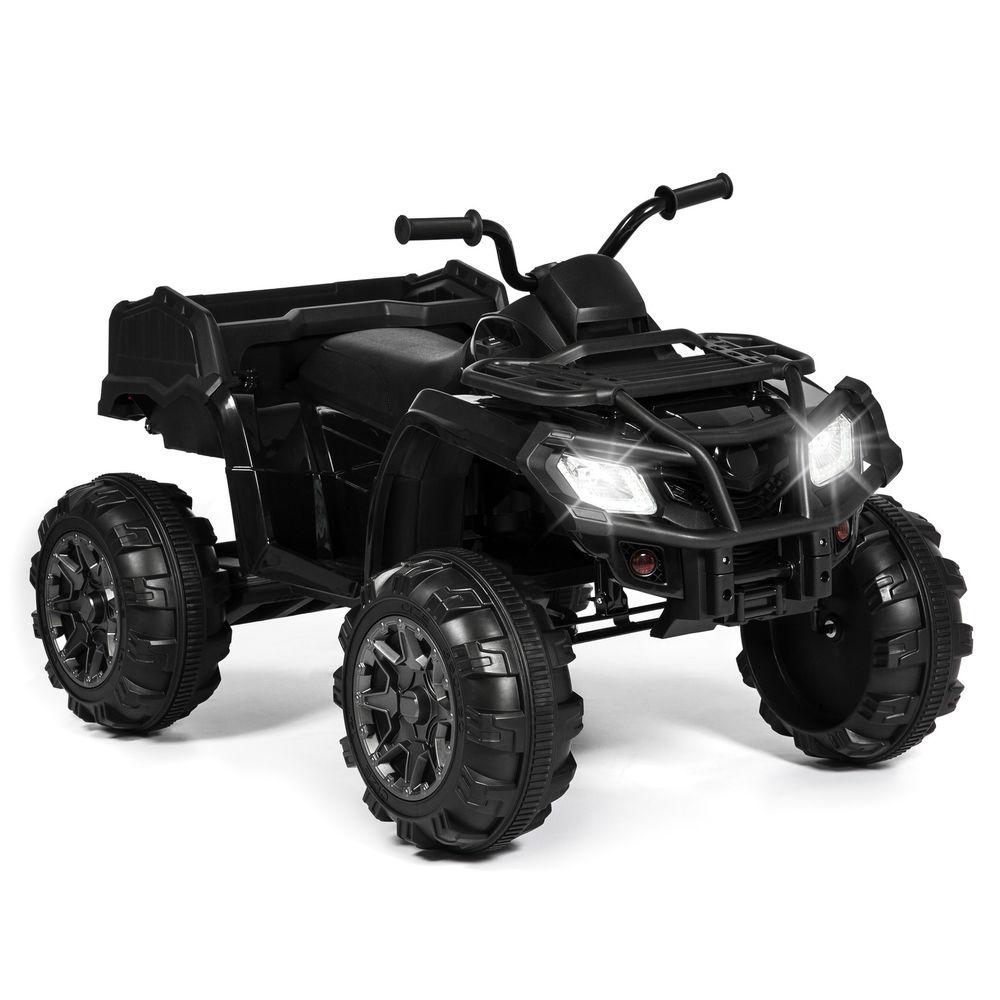 Kids 12V Ride On XL ATV Quad 4 Wheel Suspension MP3 Player, Storage Basket - $174.99