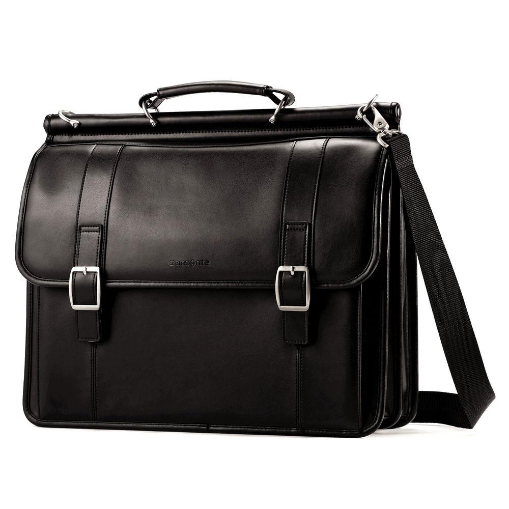 Samsonite Leather Dowel Rod Flapover in Gift Box - $54.99