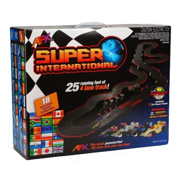 AFX Super International 4-Lane Mega G+ HO Slot Car Track Set w/Tri-Power FREE SH - $219.79 $219.97
