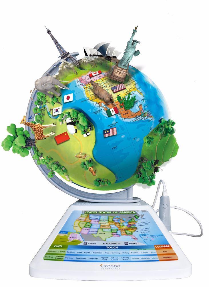 Oregon Scientific AR SmartGlobe Adventure - Augmented Reality Globe SG268R - $49.99