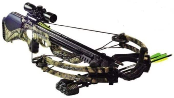 Camo Barnett Ghost 410 1.5-5X Scope Crossbow Pkg 410 FPS 78222 - $579.99