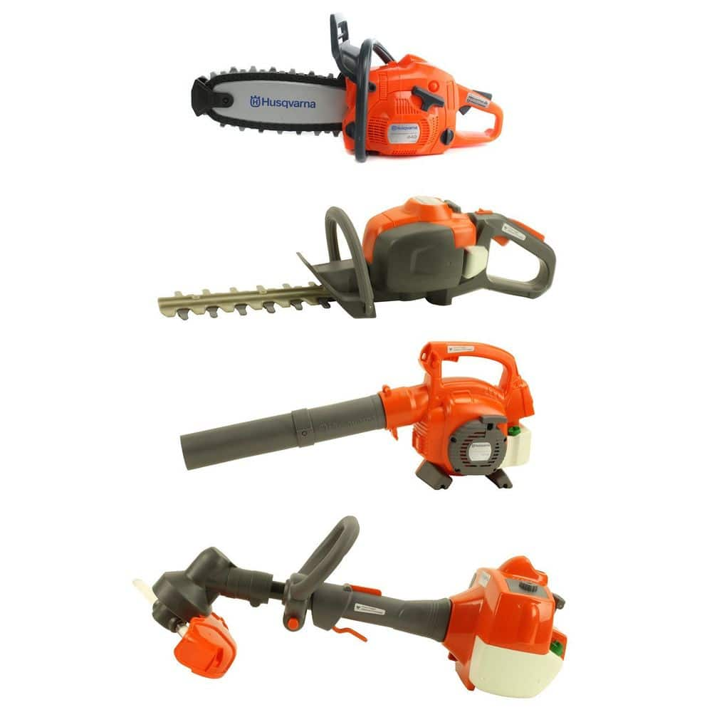 Husqvarna Kids Toy Play Set Chainsaw + Hedge Trimmer + Leaf Blower + Weed Eater - $79.95