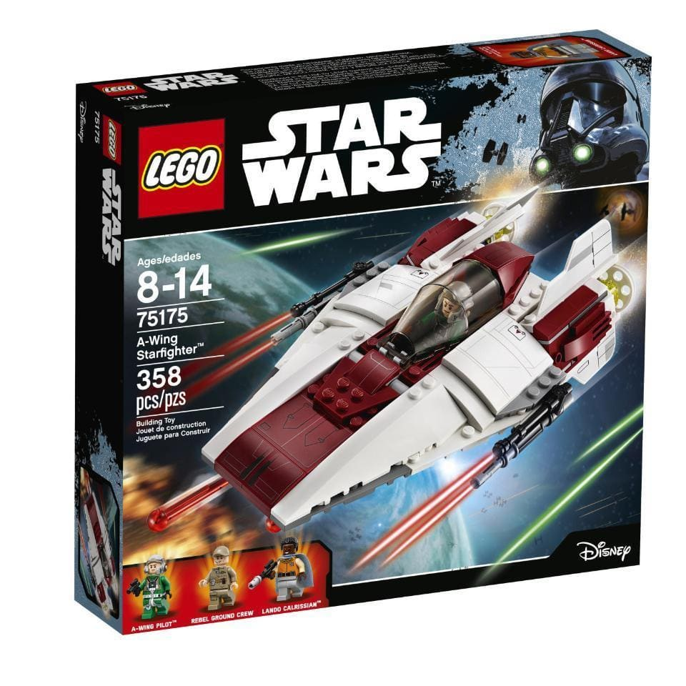 LEGO Ninjago Samurai X Cave Chaos - $53.60, LEGO Star Wars Jedi Starfighter with Hyperdrive - $67.02, LEGO Star Wars A-Wing Starfighter - $26.92, and More