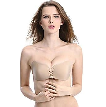 Tidetell Invisible Women's Strapless Self Adhesive Demi Bra with Drawstring: $7.19+ FS@Amazon