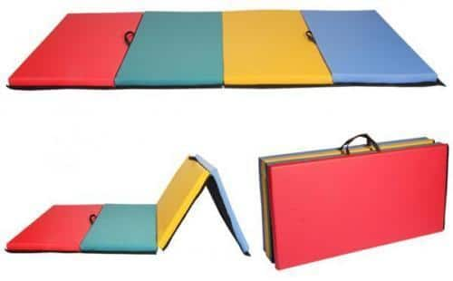 All color 4'x8'x2Thick Folding Panel Gymnastics Mat Gym Fitness Exercise Mat R4 - $57.99