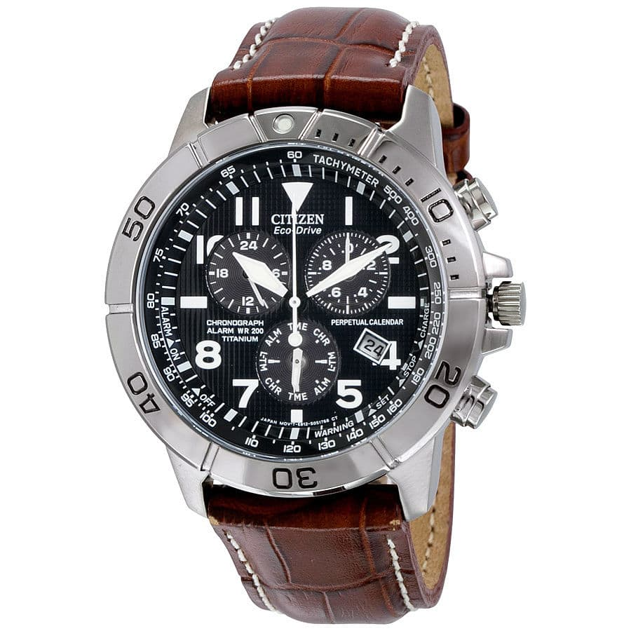 Citizen Eco-Drive Perpetual Calendar Chronograph Mens Watch BL5250-02L - $184.99, Baume and Mercier Black Dial Leather Strap Mid Size Watch 10019 - $784.99