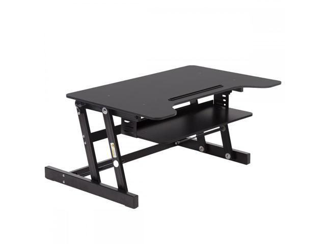 Black Desktop Standing Desk Adjustable Height Sit Stand Workstation Riser L80 - $99.99