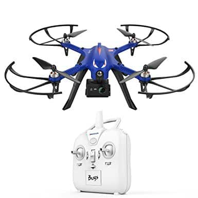 DROCON Blue Bugs Brushless Drone Supports Gopro Action Cameras - $89.90