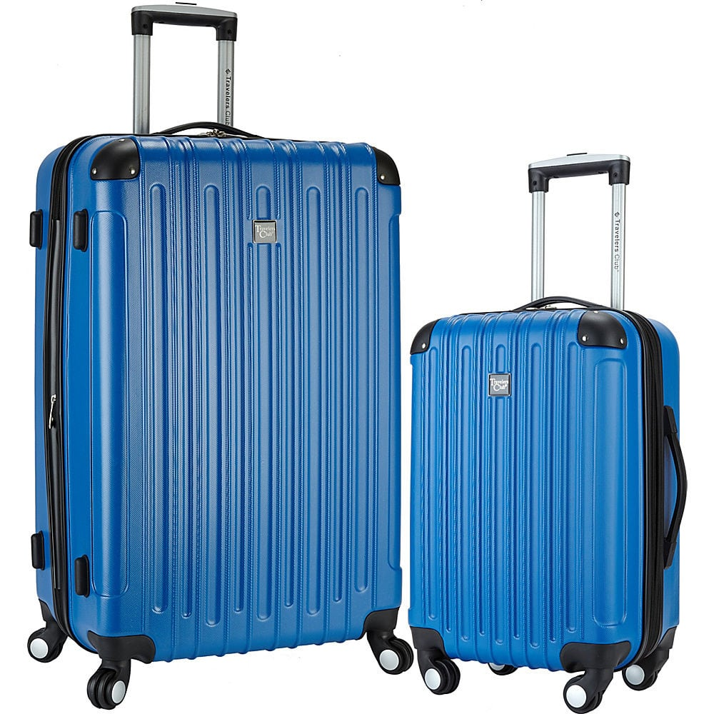 Travelers Club Luggage Madison 2 Piece 2-in-1 Hardside Checked - $74.69