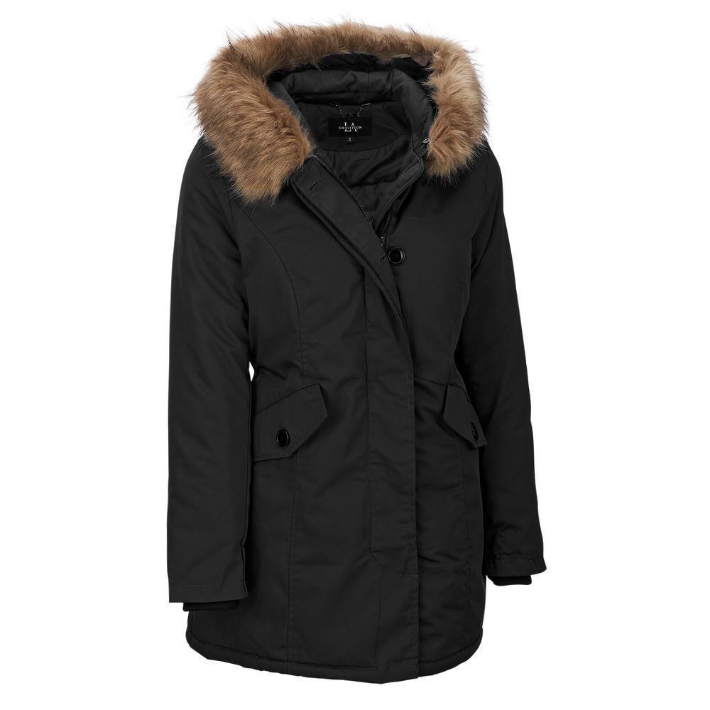 Women's Jacket - Coalition La Thick As Thieves Fabric Jacket W/ Faux-Fur Hood - $44.99