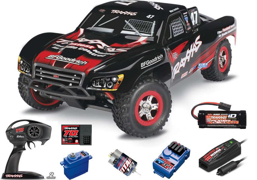 Traxxas 1/16 Slash 4X4 Brushed RTR TQ Radio/Battery/Charger #47 Mike Jenkins - $199.95