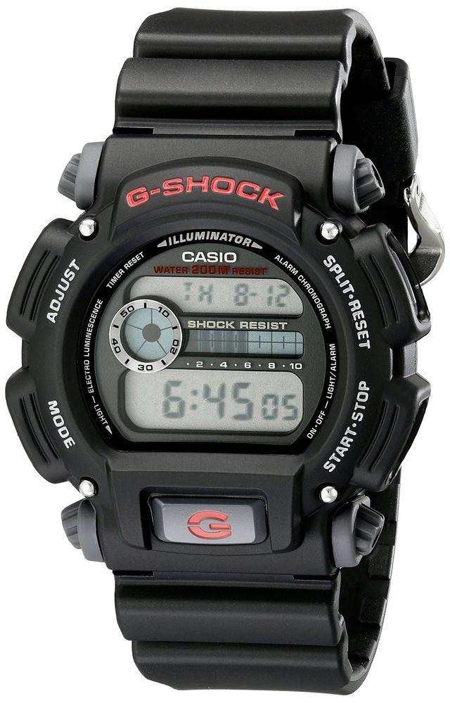 Casio G-Shock Men's DW9052-1V Quartz Chronograph Black Resin Band 48.5mm Watch - $36.99