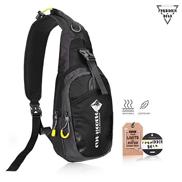 50% Off Forbidden Road Waterproof Sling Bag One Shoulder Backpack (Various Colors) - $8