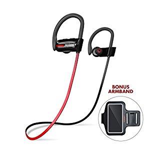 Tenergy T20 Bluetooth Wireless Headphones, IPX7 Sweatproof Sports Earphones - $16.77
