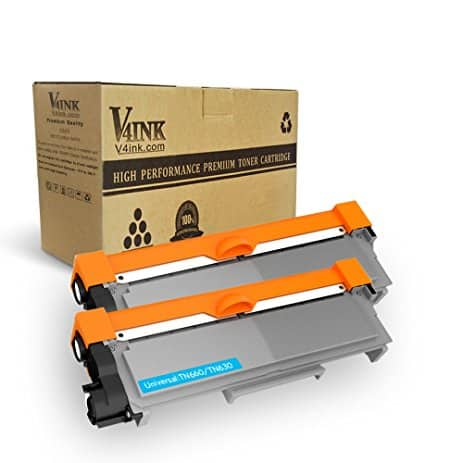 2-Pack V4INK Compatible Brother TN630 TN660 Toner Cartridges (Black) - $10.89