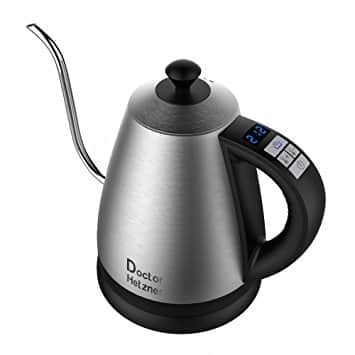 50% Off Doctor Hetzner 1.2L Stainless Steel Electric Gooseneck Kettle with Preset Variable Heat Settings - $29.99