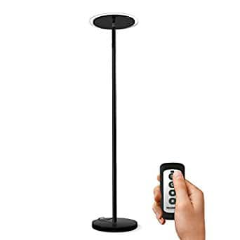 Tenergy Torchiere Dimmable LED Floor Lamp, Remote Controlled 30W (150W Equivalent) Standing Lamp with Stepless Touch Dimmer - $49.69