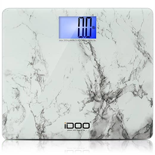 iDOO Precision Digital Bathroom Scale with Ultra Wide Platform & Large Backlit LCD Display on sale for $15.89