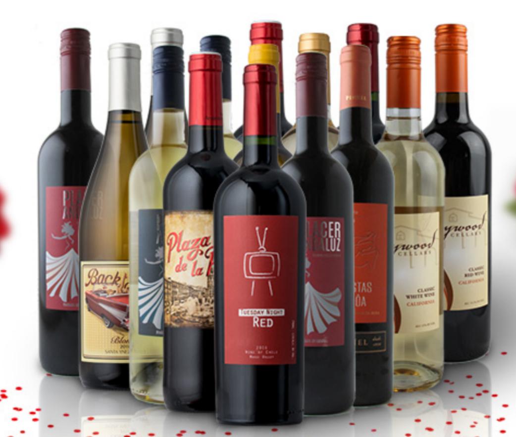 Splash Wines - 15 Bottles of Wine for $75 + Free Shipping