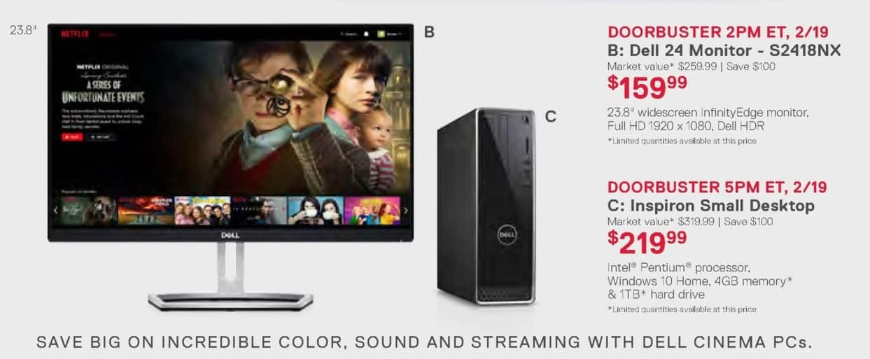 Dell Home & Office Weekly Ad: C: Inspiron Small Desktop for $219.99