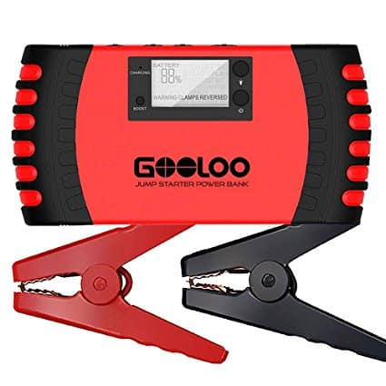 GOOLOO Car Jump Starter / USB Charger (18000mAh/800A Peak) on sale for $41.99 - Checking