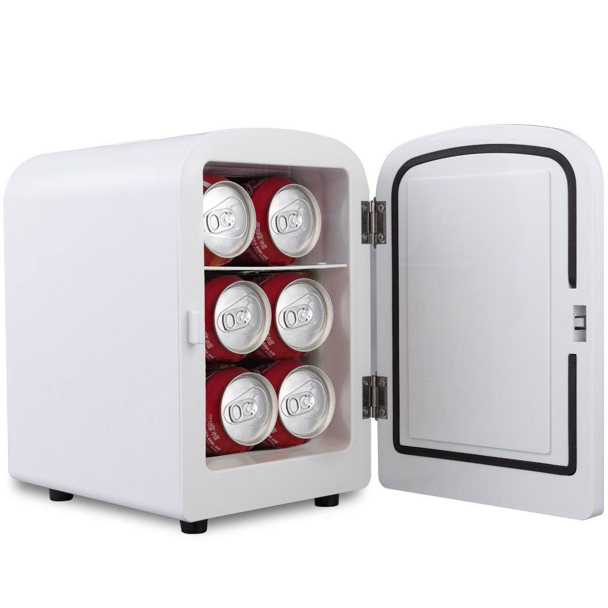 Costway 4 L Portable Cooler Mini Fridge $33.95 with Free Shipping