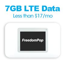 FreedomPop 12mo Prepay - 7GB LTE Data for $16.67/mo + Free GSM Hotspot