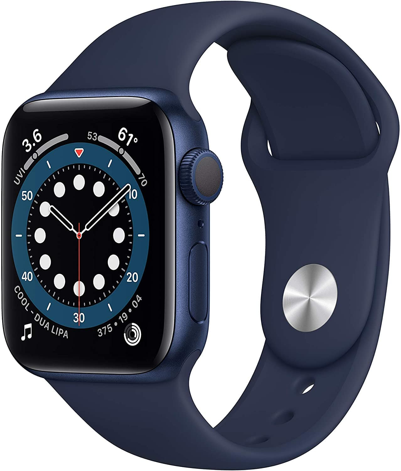New Apple Watch Series 6 (GPS, 40mm) - Blue Aluminum  for $379  ($399)  @ amazon