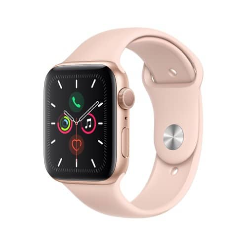 Apple Watch Series 5 GPS, 44mm Gold Aluminum Case with Pink Sand Sport Band - S/M & M/L - $329 @ Walmart