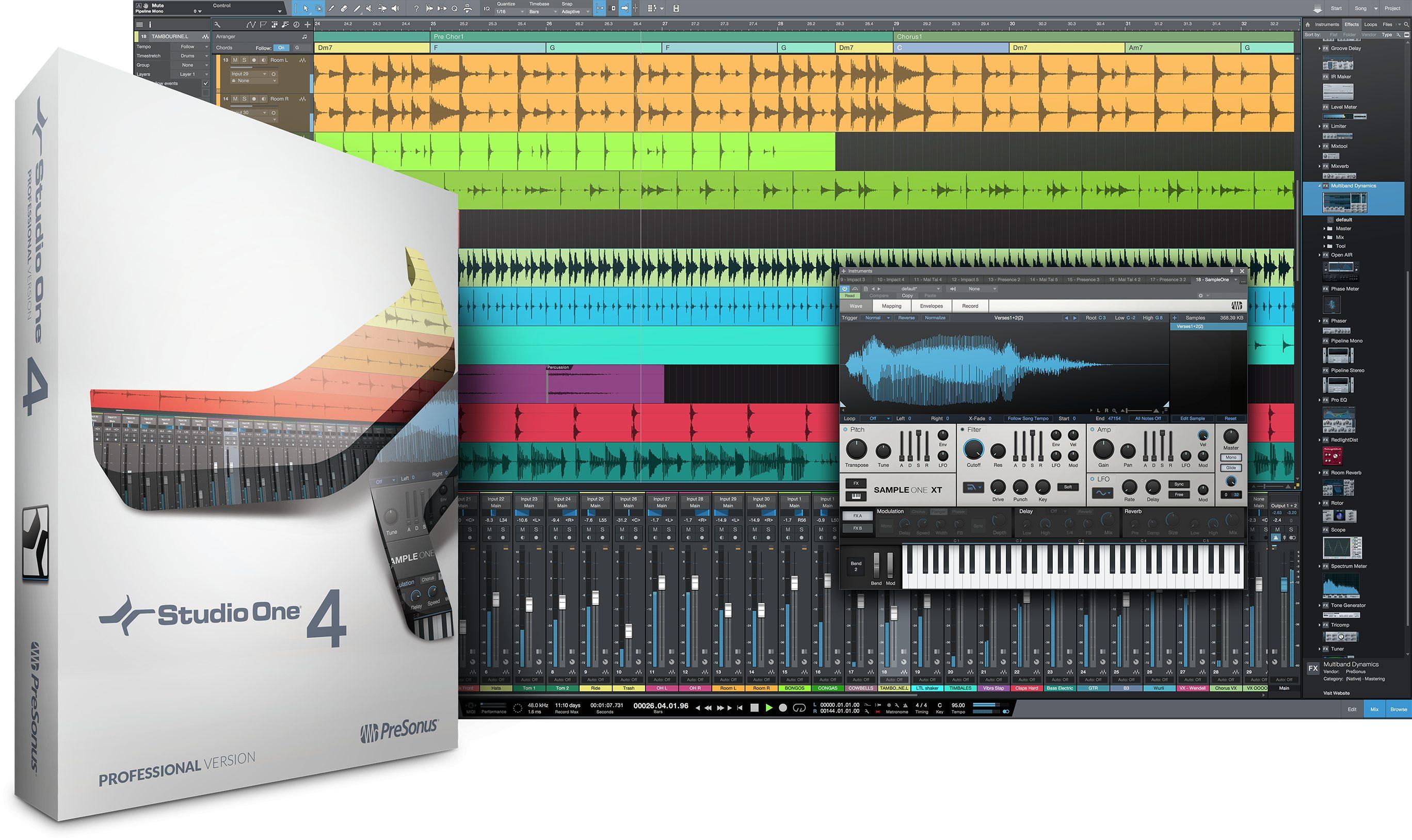 PreSonus Studio One 4 Professional Recording Suite Software $199.98 - Amazon digital code