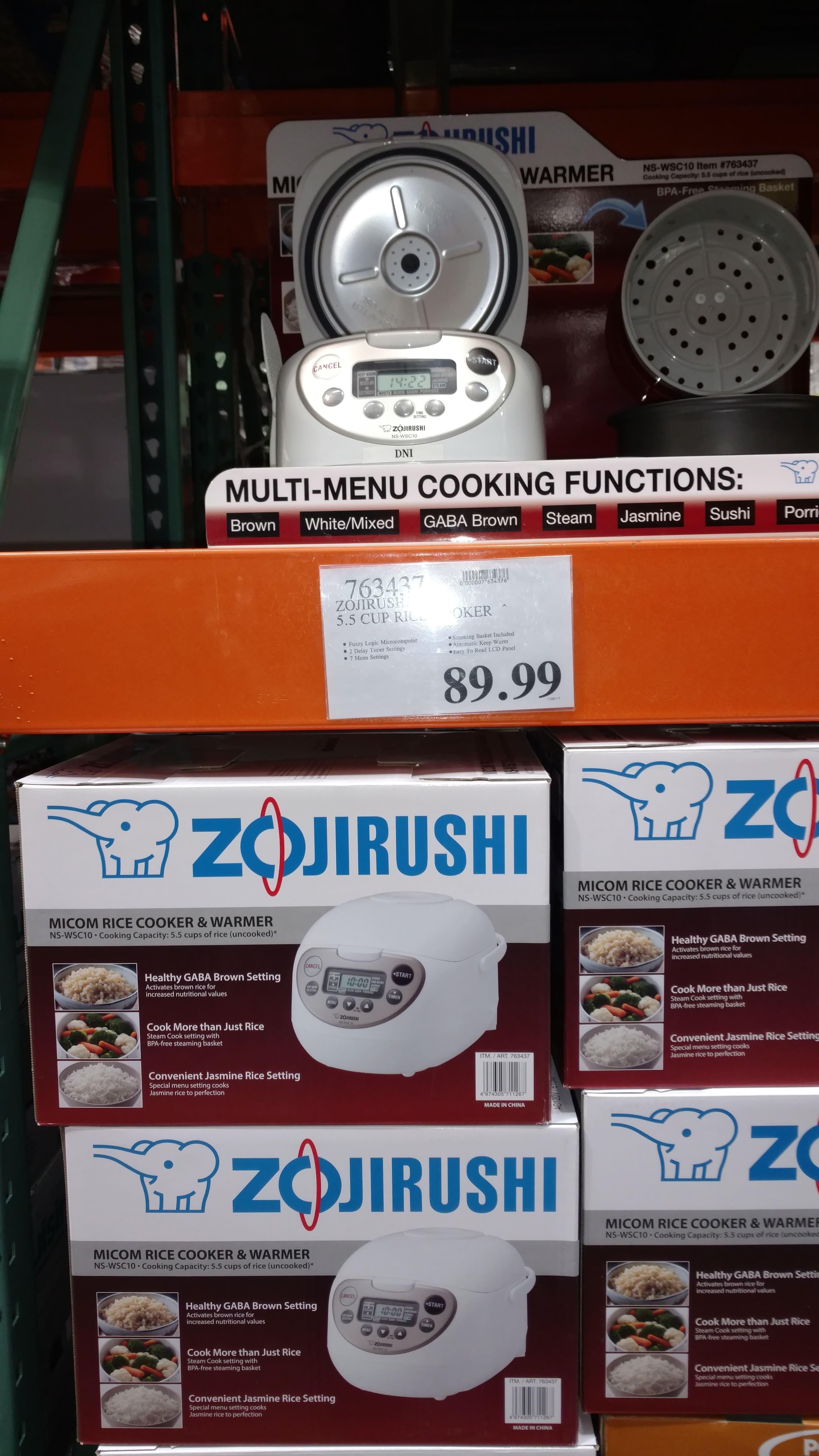 Zojirushi Micom NS-WSC10 5.5-cup Rice Cooker - $89.99 at Costco stores (YMMV)