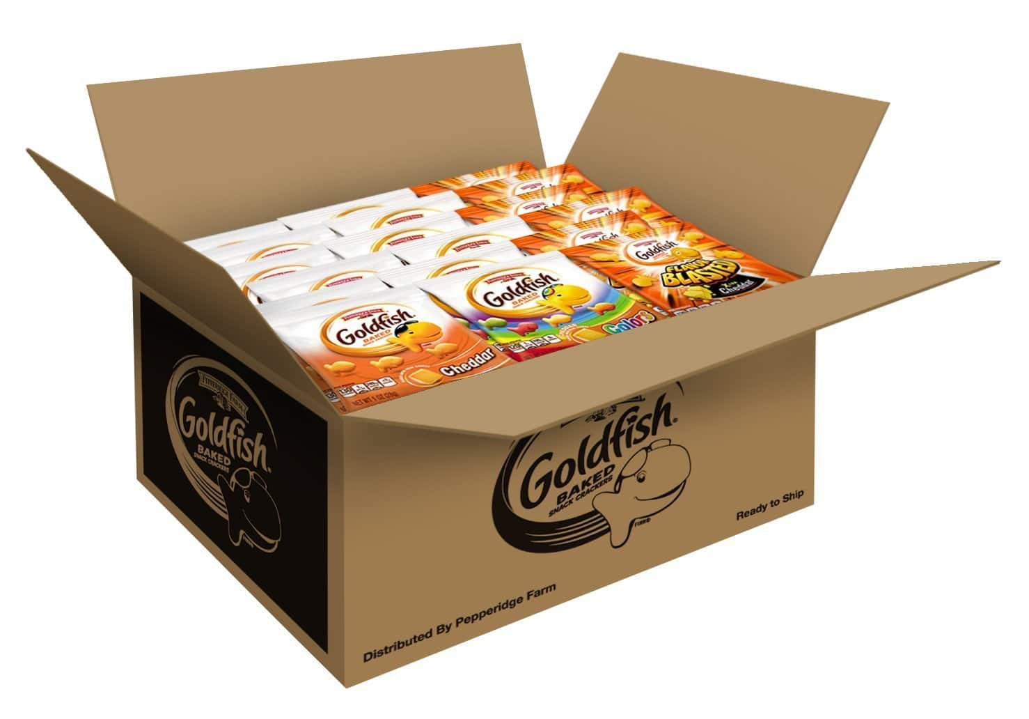 PRICE DROP - Pepperidge Farm Goldfish Crackers 40 Count Variety Pack, 37.6 Ounce - $9.80/FS w/Prime
