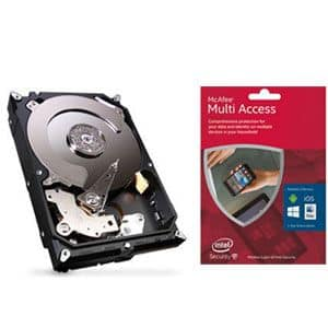 Seagate 3TB with McAfee 2016 Multi Access 1 User 5 Device $15 money maker
