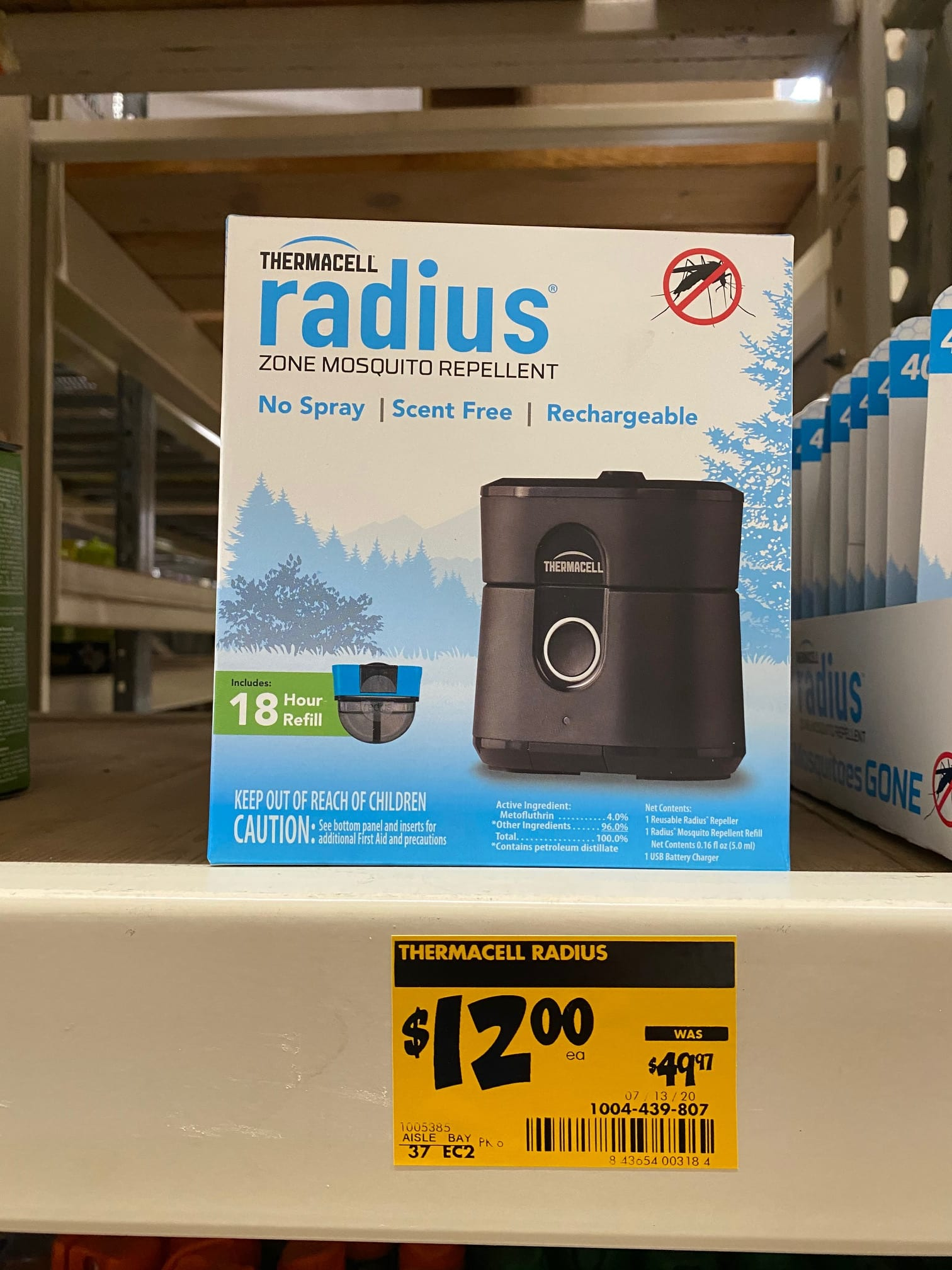 $12 Thermacell Radius Zone Mosquito Repellent: In Store Only Clearance at Home Depot: YMMV